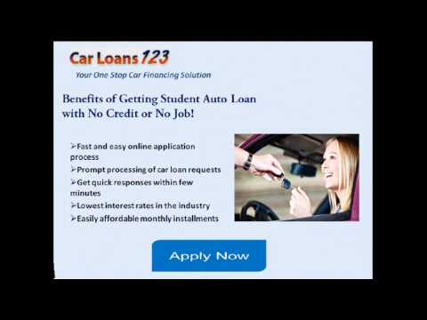 Car Loans For Students With No Credit Or Cosigner, Get Auto Loans For College Students