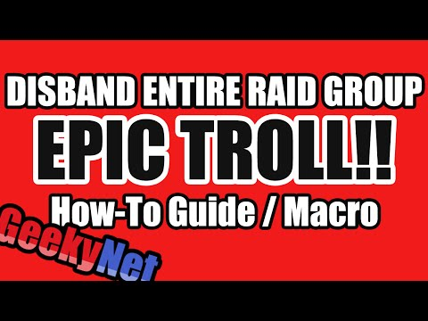 How To Disband Entire Raid Group | EPIC TROLL!!
