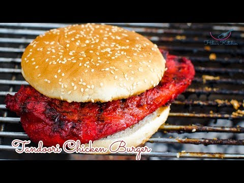 How to Make Tandoori Chicken Burger -  By Hiba's Kitchen