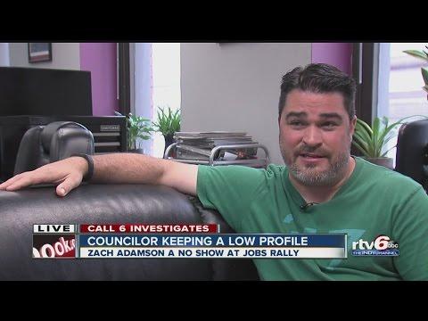 Councilor Zach Adamson keeping a low profile