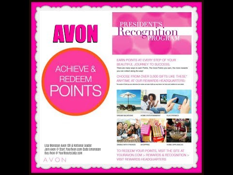 Avon Presidents Club-Getting the Points