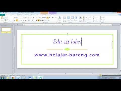 Cara membuat label di Microsoft Publisher 2010