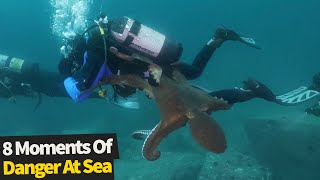 Top 8 Scary Moments At Sea | Dangerous Moments!