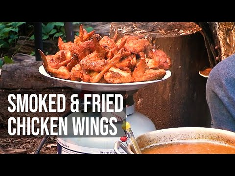 Crispy Fried Smoked Chicken Wings by the BBQ Pit Boys