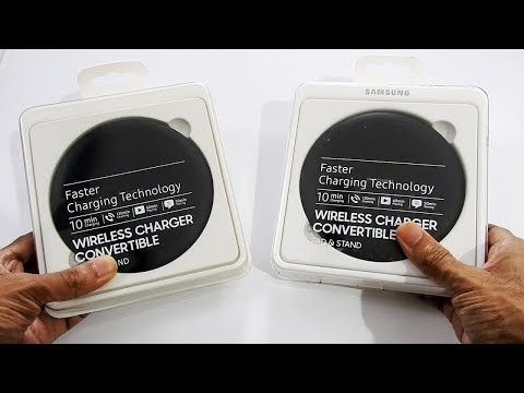 Real vs Fake SAMSUNG Wireless Charger (EP-PG950)