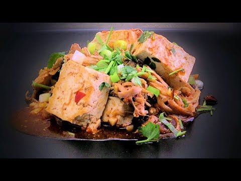 Chinese Tofu & Spicy Chicken (Chinese Style Cooking Recipe)