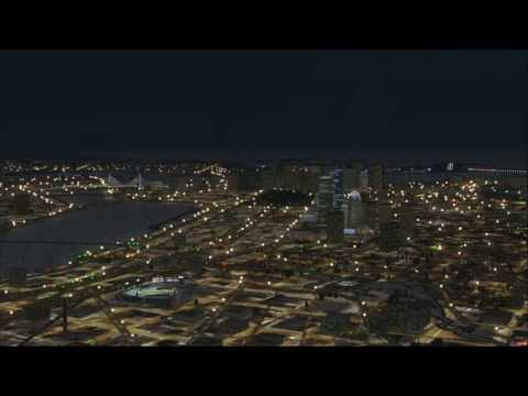 FSX Microsoft Flight Simulator X Boston Google Earth Scenery Showing All Times of Day Through Night