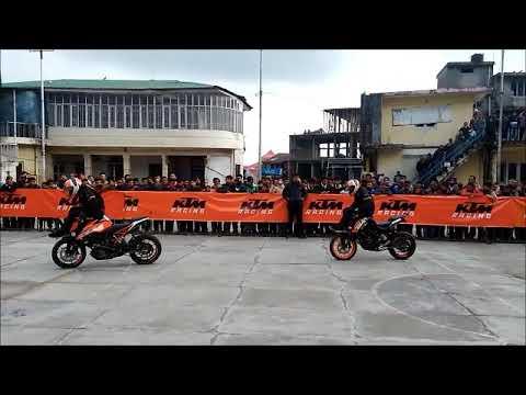 KTM DUKE BIKE STUNTS AT PALAMPUR 2018