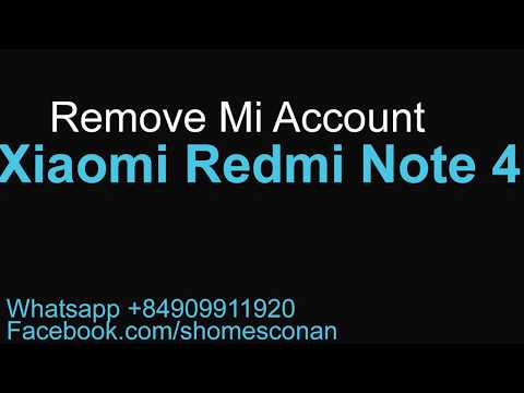 Remove Mi account Xiaomi Redmi Note 4