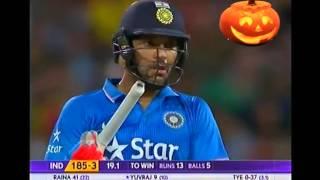 Yuvraj Singh wins a last ball thriller Vs Aus T20 2016