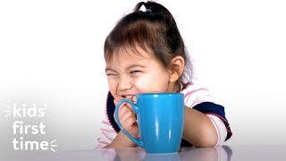 Download Kids' First Time Drinking Coffee | Kid's First Time | HiHo Kids Video