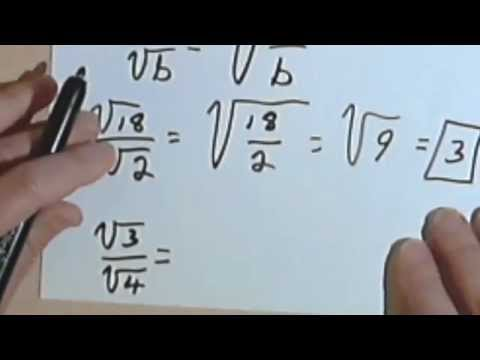 Quotient Rule & Simplifying Square Roots