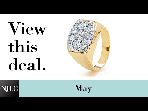 Deal of the Month: Yellow Gold Men's Diamond Ring