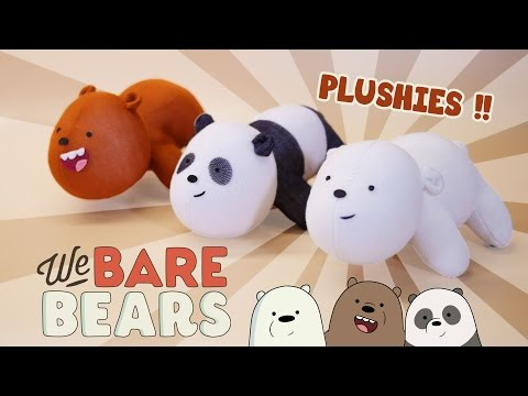 DIY We BARE BEARS Plushies!! (FREE Pattern) Cute Bear Sock Plush Sewing Tutorial