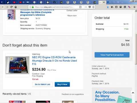 2018-01-08 -- PayPal Balance Usage Buying in eBay