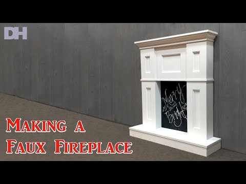 Making a Faux Fireplace