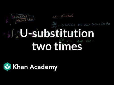 Doing u-substitution twice (second time with w)
