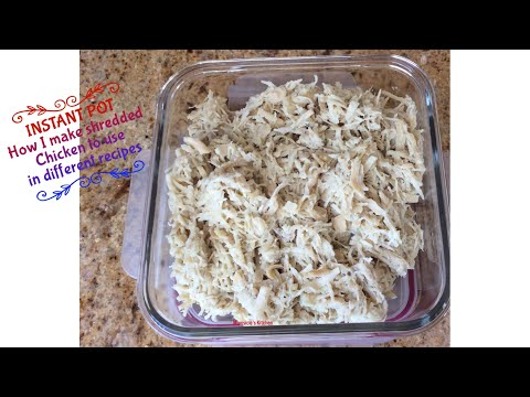 INSTANT POT | How I make shredded chicken to use in different recipes | Mumtaz Hasham