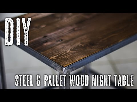 DIY Steel & Pallet Wood table