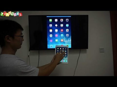 Android TV box with airplay mirror, miracast, test with iPad Air, tinydeal