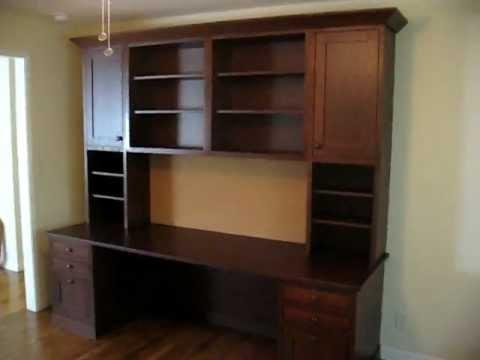 Red Oak Desk and Bookshelves
