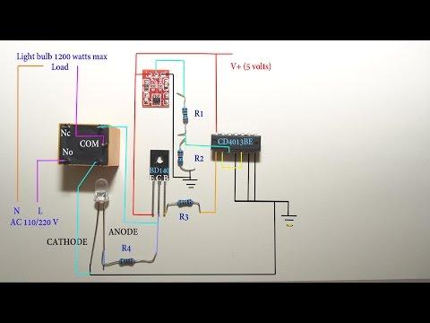 Touch sensitive light switch circuit diagram