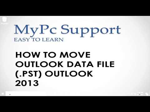 How to move an Outlook data file (.PST) in MS Outlook 2010/2013/2016 [2017]