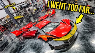 I Stripped My Wrecked Mclaren 675LT Down To The FRAME (And Now I CAN'T Put It Back Together)