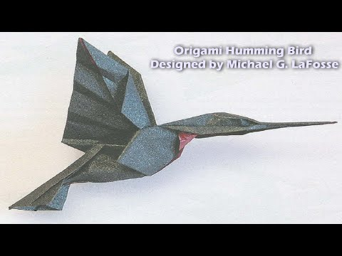 Origami Humming Bird (HD) - الطائر الطنان