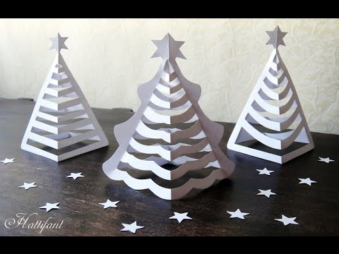 Hattifant - 3D Paper Christmas Tree | 3D Christmas Tree with Paper - includes FREE templates