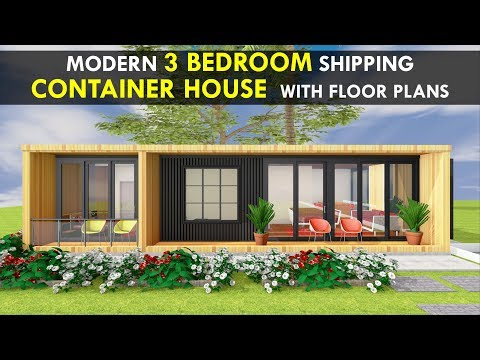 Amazing Shipping Container 3 Bedroom House Design with Floor Plans by SHELTERMODE   MODBOX 640