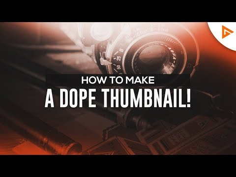 How To Make DOPE Custom THUMBNAILS in Photoshop!