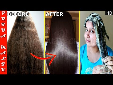 Permanent Hair Straightening at Home with all Natural Ingredients - Get Smooth,Shiny,Straight Hair