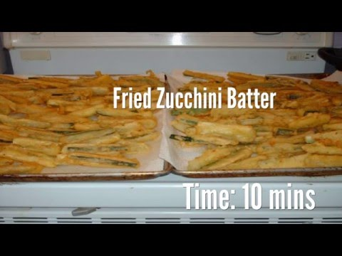Fried Zucchini Batter Recipe