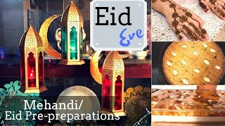 Eid Eve I Mehandi I Eid Pre Preparations I Basbousa I Sun shine pudding - Mattees broast Powder