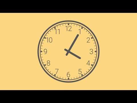 Analog Clock Vector Design in Inkscape