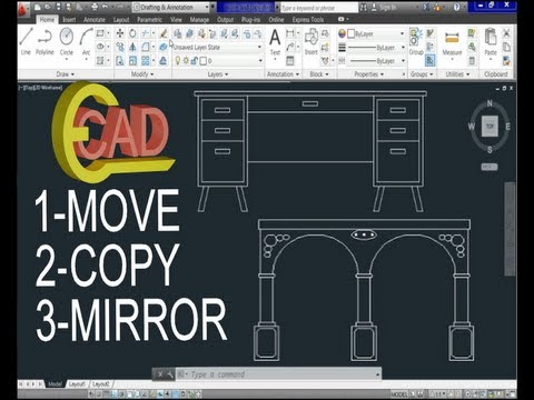 Learning AutoCAD 2013 Tutorial 7: Move, Copy and Mirror