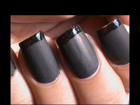 DIY Matte Nail Polish Designs Tutorial : Matte Nail Art !!