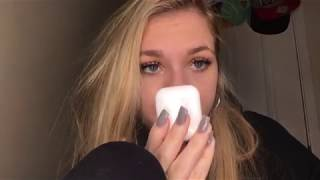 ASMR- close up- BINAURAL- gently tapping/ cleaning Apple products/ inaudible whisper
