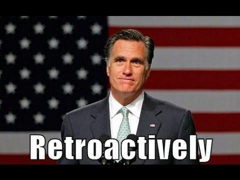 Retroactive! Mitt Romney Time Travels to Escape Bain Responsibility
