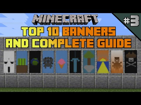 Minecraft Top 10 Banner Designs Ep 3 With Tutorial Playithub