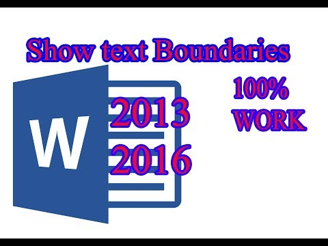 How to show text boundaries in Microsoft Office word 2016, 2016, របៀបង្ហាញស៊ុមក្នុងoffice 2013, 2016