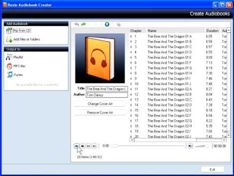 Convert Audiobook CDs for your iPod
