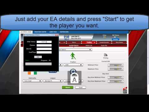 FIFA 12 Ultimate Team Card Generator! Easy Coins Making! WITH DOWNLOADLINK!