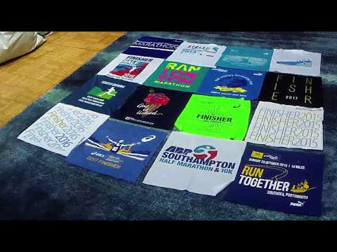 How to make a T-Shirt Quilt in 30 seconds!