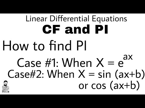 6. HOW TO FIND PI | CASE#1 & 2 | DIFFERENTIAL EQUATIONS OF HIGHER ORDER