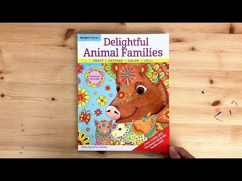 Delightful Animal Families Coloring Book Flip Through
