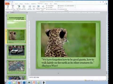 Timings in PowerPoint 2010