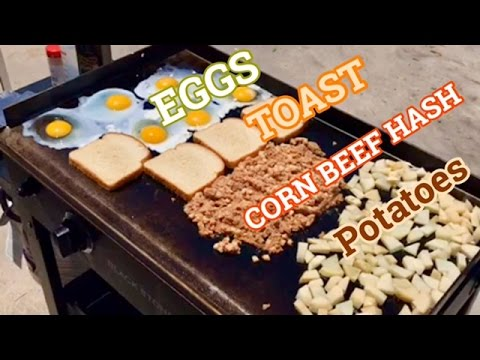 ♨️ Blackstone Griddle Breakfast Edition: How To Make Eggs, Toast, Corn Beef Hash, and Potatoes
