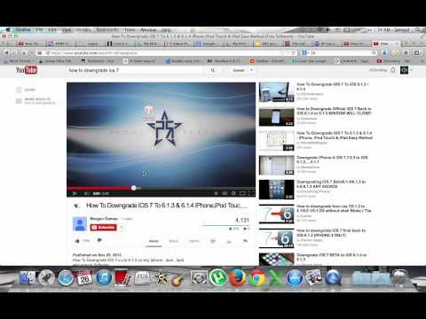 How To Downgrade iOS 7 To 6.1.3 & 6.1.4 iPhone,iPod Touch & iPad Easy Method [Free Software[